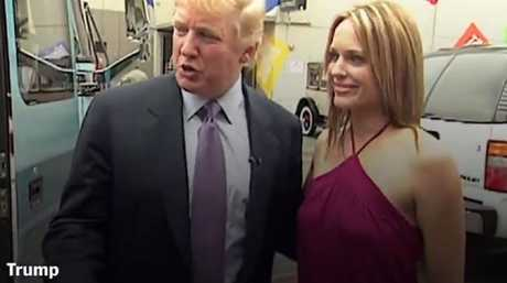 A still from the Access Hollywood tape where Donald Trump was heard bragging about groping women.