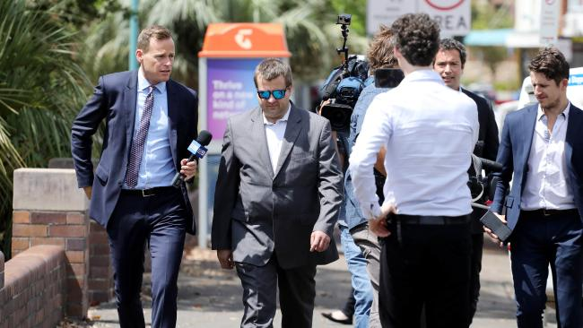 Kole Olsen leaves Hornsby Court House after being charged with and pleading guilty to an alleged rampage at McDonalds drive-through where he ordered 200 hash browns worth $230.