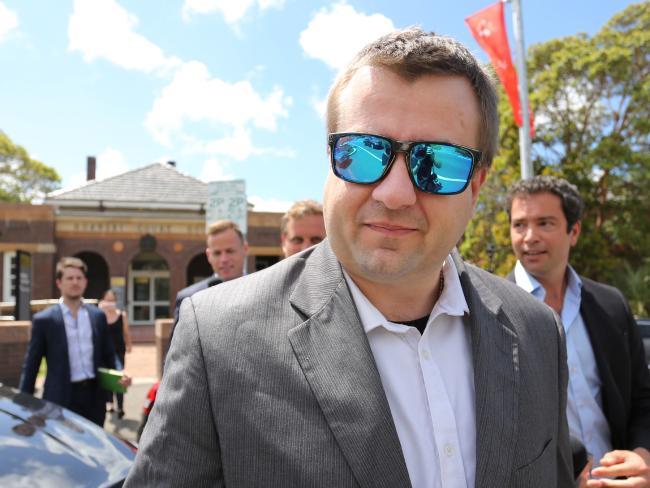 Kole Olsen leaves Hornsby Court House today.