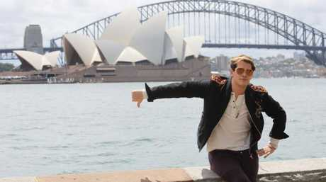 Milo Yiannopoulos is 'ready to offend Australia', he said as he arrived in Sydney. Picture: Nathan RichterSource:News Corp Australia