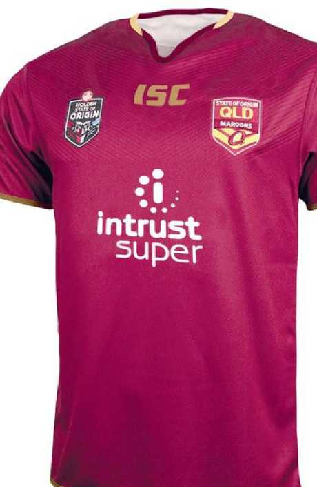 The design of the 2018 Maroons jersey. Picture: Supplied
