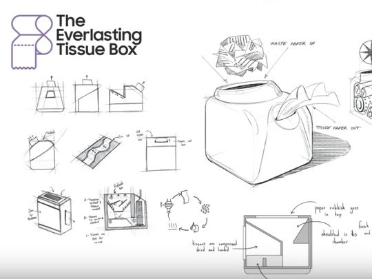 Fancy a tissue box that never runs out - using recycled shredded paper?