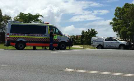 Emergency services on Ballina Rd at Goonellabah.