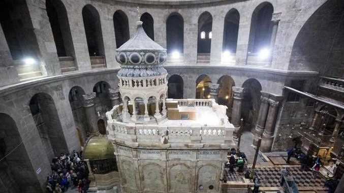 Greek archaeologists have been working since June 2016 to restore the tomb, believed to be the place where Jesus Christ was buried and then resurrected from after his crucification.