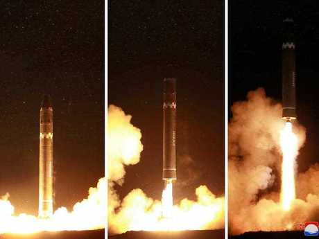 North Korea's Hwasong-15 intercontinental ballistic missile