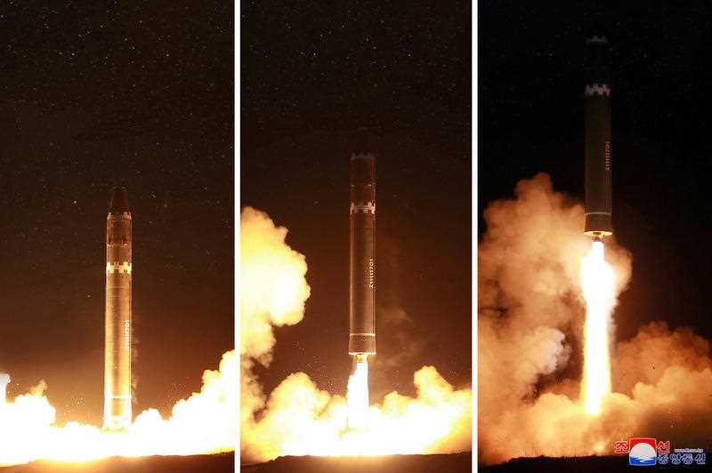 North Korea's Hwasong-15 intercontinental ballistic missile