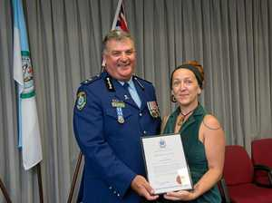 Woman congratulated for preventing tragedy