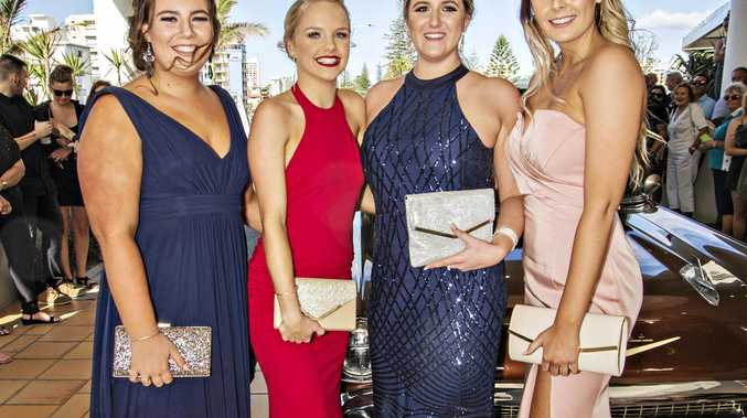 CELEBRATION TIME: Jasmine Blackman, Chelsea McKenzie, Brooklyn Crawford and Brooke Thomson at the Banora Point High School Year 12 formal.