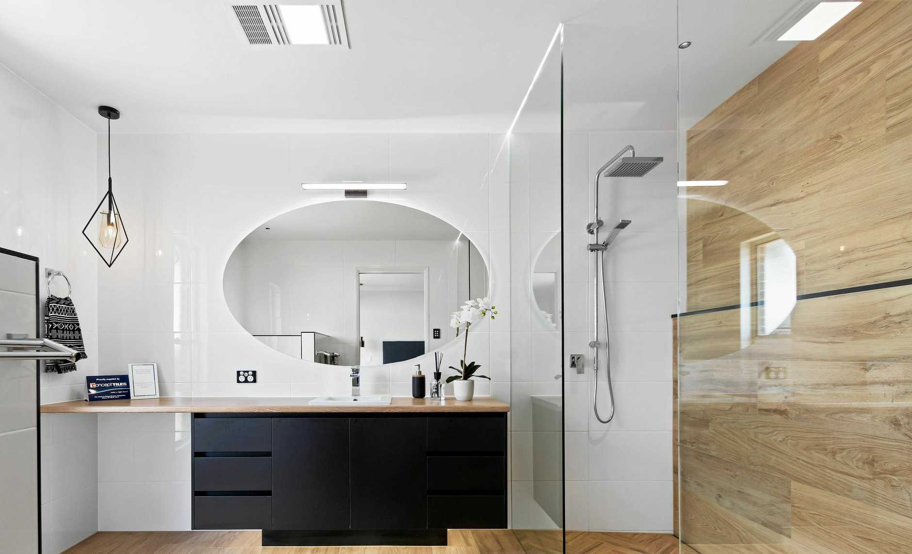 The display home has a stunning ensuite.