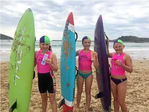 Team Minnie take on Woopi waves