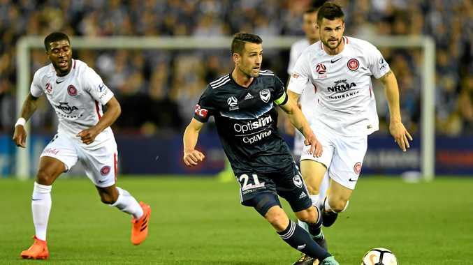 Carl Valeri, controlling the play for Melbourne Victory, has some forthright views on the power struggle that threatens the hierarchy of the game in Australia.