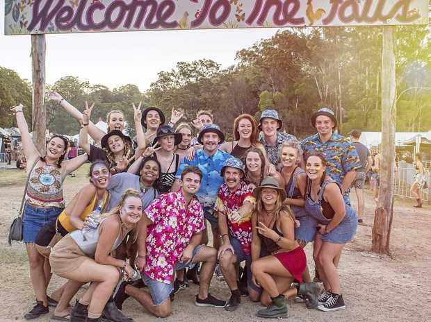 FUN: Crowds at Falls Festival in Byron Bay.