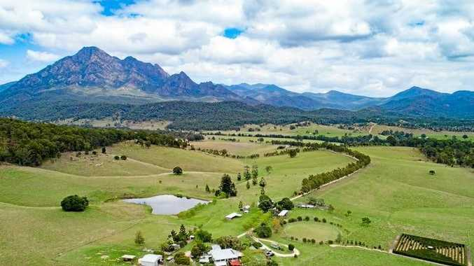 STUNNING VIEW: Mount Barney is at the back door of Lillydale Farm Stay.