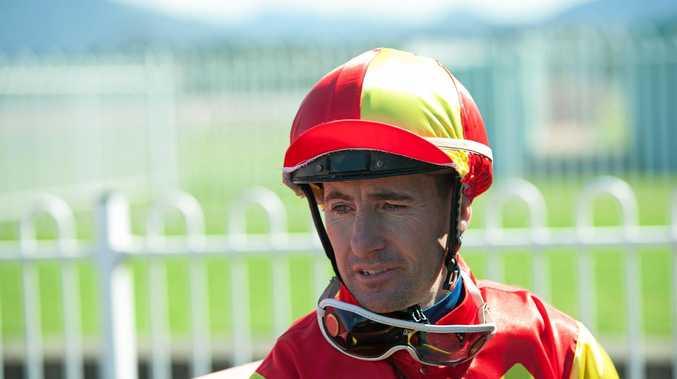 READY TO ROLL: Jockey Matthew Paget after winning a race in Coffs Harbour last year.