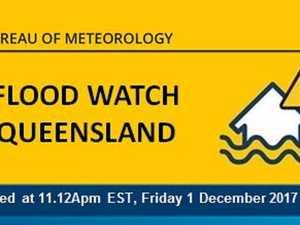 Flood watch issued for Gladstone waterways