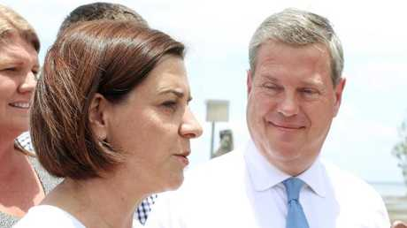 Tim Nicholls could be challenged for the LNP leadership by current deputy Deb Frecklington. Picture: Liam Kidston