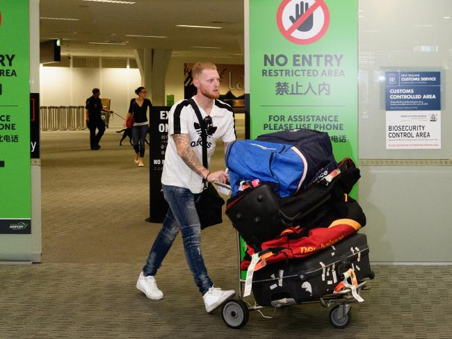 Stokes arrives in Christchurch.