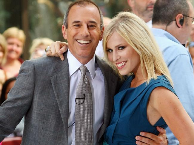 Matt Lauer and singer Natasha Bedingfield. Picture: Supplied.