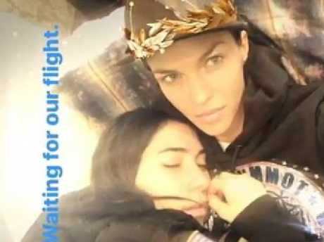 Ruby Rose and girlfriend Jessica Origliasso cuddle up on social media.