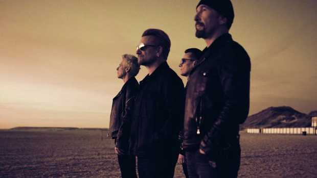 Irish band U2 for National Hit. TV only.