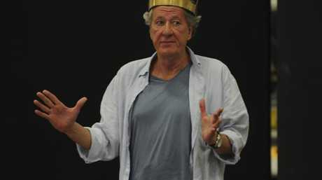 Geoffrey Rush  in rehearsal for the Sydney Theatre Company's production of King Lear.