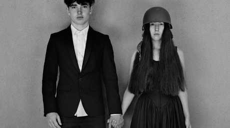 Bono's son Eli and the Edge's daughter Sian on the cover of U2's Songs of Experience. Pic: Universal
