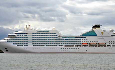 Seabourn Encore and its 600 passengers were set to drop in at Mooloolaba today.