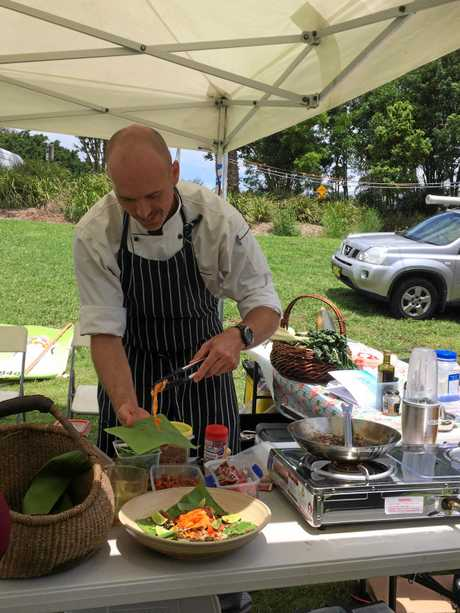 Chef Daniel Lange  at the The Lismore River Festival and Carp Muster.