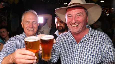 Celebration beers at the Southgate Inn in Tamworth. Picture: Lyndon Mechielsen/The Australian
