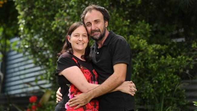 Shannon and Jeff Dowsett are the perfect match. Picture: Peter Wallis