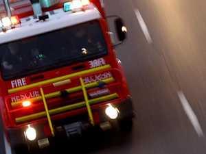 Crews on scene as blaze tears through bushland