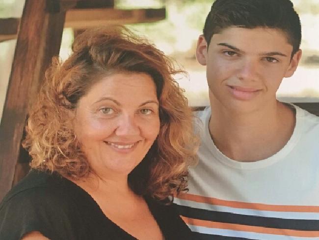 Tina Kontozis and son Daniel Boyd.