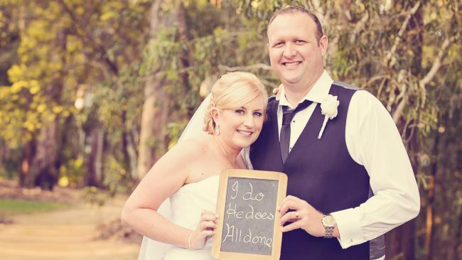 Nicole Johnson, 41, of Gladstone, in Central Queensland, was diagnosed with melanoma less than a year after marrying her husband, Craig.