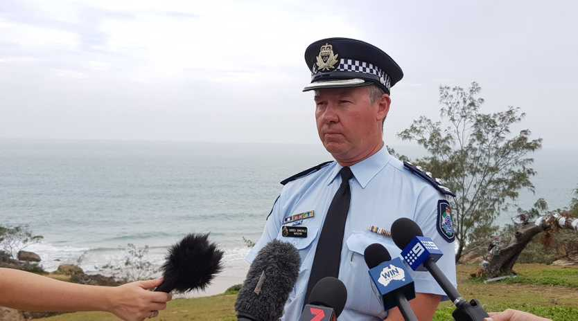 DIFFICULT OPERATION: Inspector Darren Somerville at Round Hill Headland.