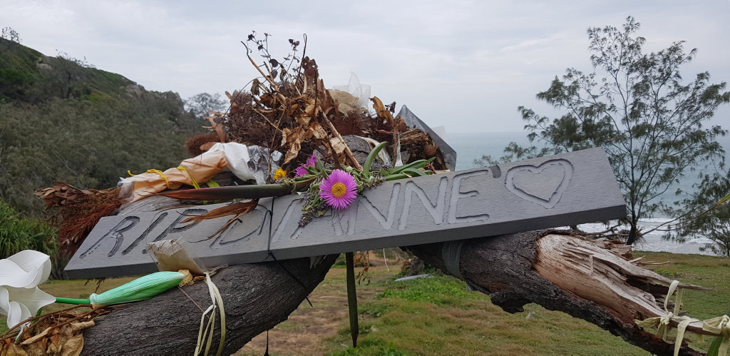 TRAGEDY: The community memorial to the Dianne's crew at Round Hill Headland.