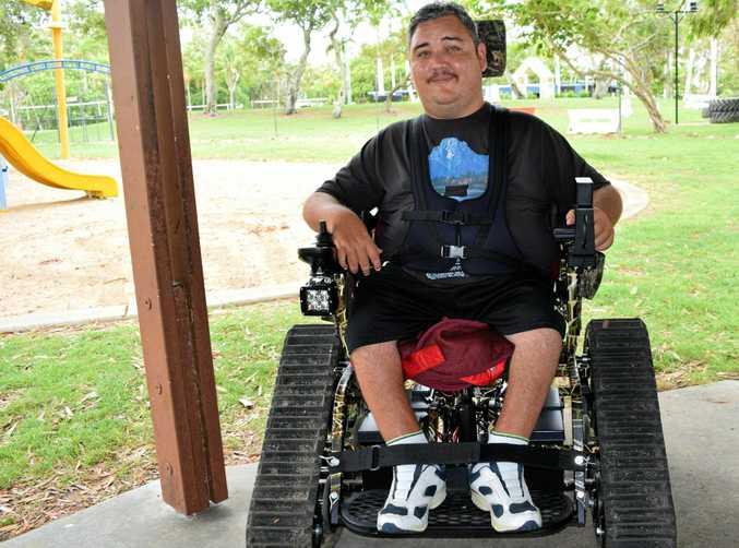 Tyson Jansen believes receiving his all-terrain wheelchair will change his life.