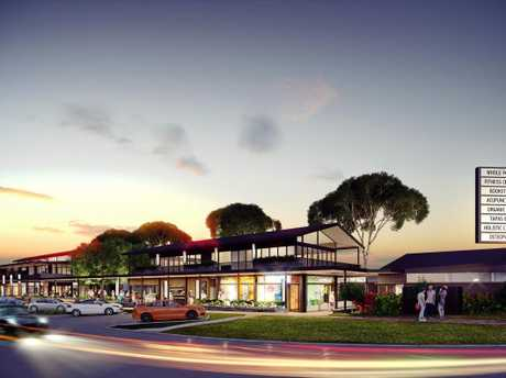 The business and commercial precinct planned for Casuarina.