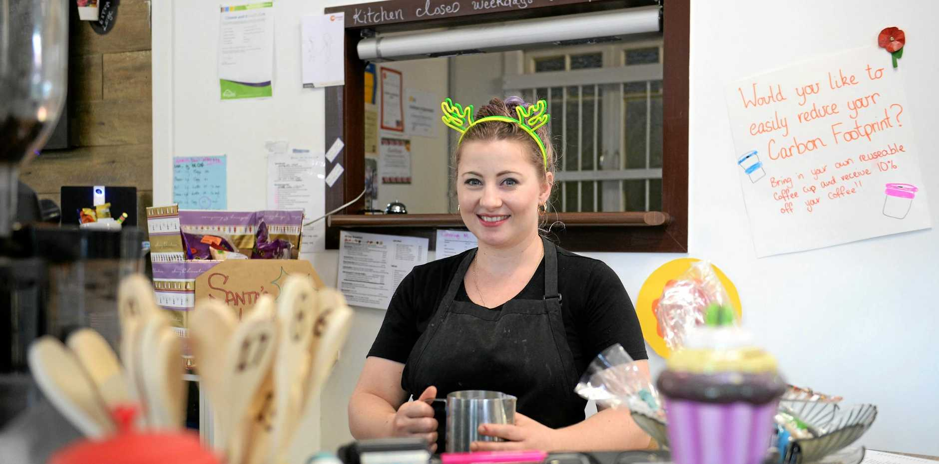 Jessica Allen, owner of Cheese and Biscuits Cafe.