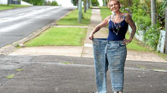 NEW WOMAN: Ipswich mum Amy Morrow lost more than half her body weight after taking drastic measures. INSET: Amy weighed 140 kilos.