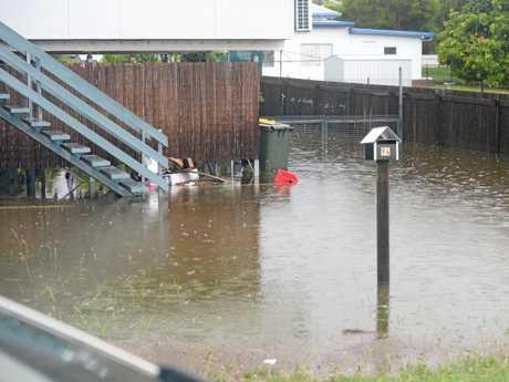 Flash flooding in Rockhampton.