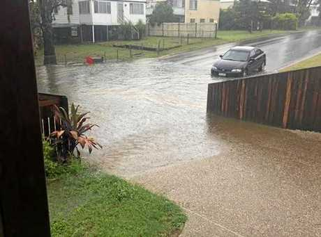 Rosie Miller caught this picture from her house saying that cars