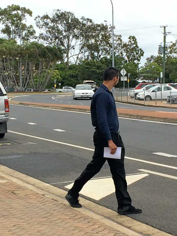 FISHTAILS: Accused by Bundaberg police of doing fishtails at 4.30am and failing to stop, Reece Griffin, 27, leaves Bundaberg Courthouse.
