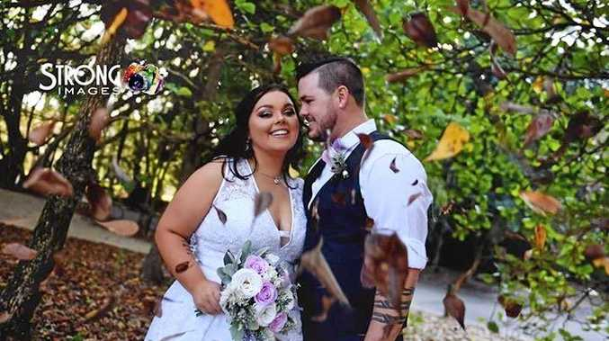 Alyssa-Jane Gale and Parkah Gale were married at Gladstone's Tondoon Botanic Gardens.