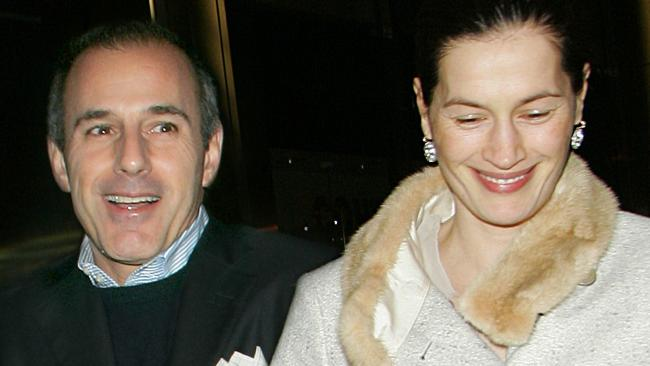 Matt Lauer and Annette Roque out and about in Midtown Manhattan. Picture: Jackson Lee / Splash News.