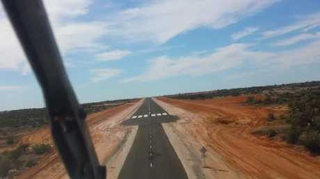 Royal Flying Doctor landing strip runway on Silver City Highway. Picture: Supplied.