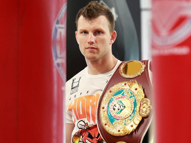 Jeff Horn will headline the card against gritty Pom Gary Corcoran. Picture: Claudia Baxter