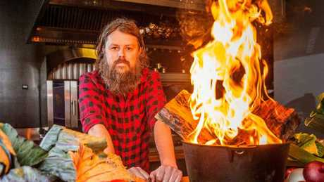 Red hot: Igni head chef Aaron Turner. Picture: Mark Stewart