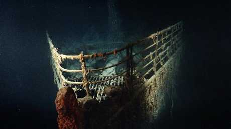 The Titanic's bow, 2.5 miles under the North Atlantic