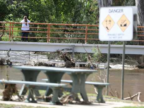 Flood waters have receded in Euroa. Picture: Alex Coppel