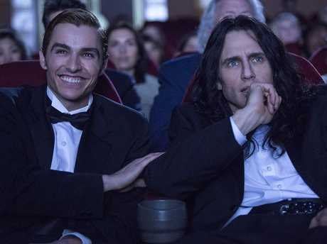 Dave Franco and James Franco in a scene from the movie The Disaster Artist.